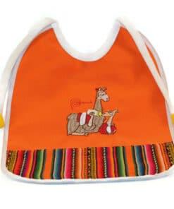 Babylätzchen Lama, orange