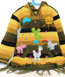 Bestickter Pullover Kinder Wüste
