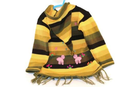Bestickter Pullover Kinder Wüste, Rückseite