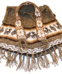Kinderponcho mit Schal