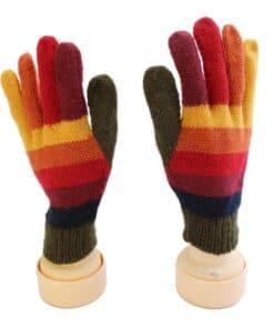Handgemachte Finger-Handschuhe aus Alpaka, bunt