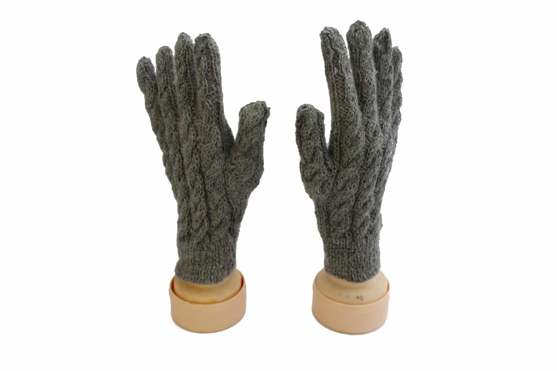 Alpaka Fingerhandschuhe Grau