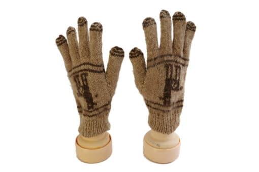 Handgemachte Finger-Handschuhe aus Alpaka, Inka, Peru