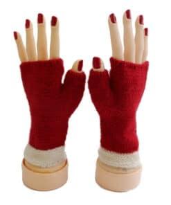 Handschuhe Alpaka, Rot