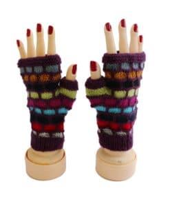 Handschuhe Alpaka, Violett