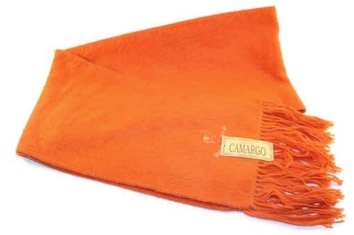 Handgemachter Schal Camargo aus Alpaka, Camargo, orange