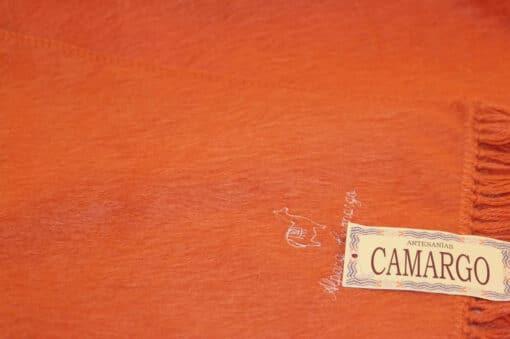Handgemachter Schal Camargo aus Alpaka, Camargo, orange, nah