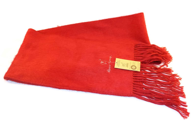 Handgemachter Schal Camargo aus Alpaka, Camargo, rot