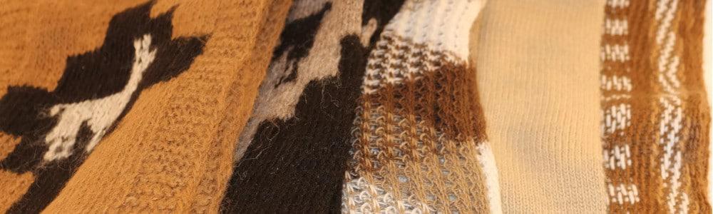 Handgemachte Schals aus Peru