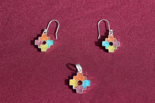 Andenkreuz Ohrringe mit Anhänger Chakana