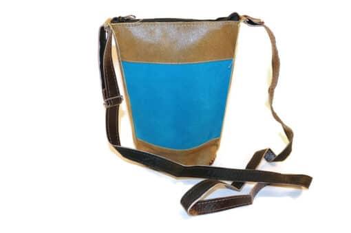 Umhängetasche Leder, Inka, Rückseite