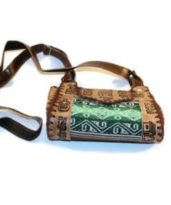 Handtasche Leder mit Manta, hellgrün