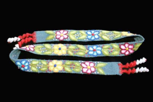 Bestickter Gürtel ohne Schnalle mit Blumenmuster, blau