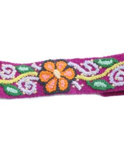 Besticktes Stirnband violett, Modell 2