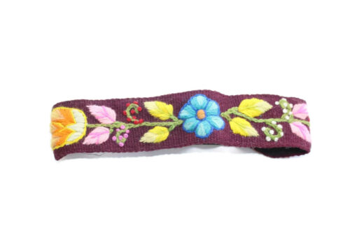 Besticktes Stirnband violett, Modell 4