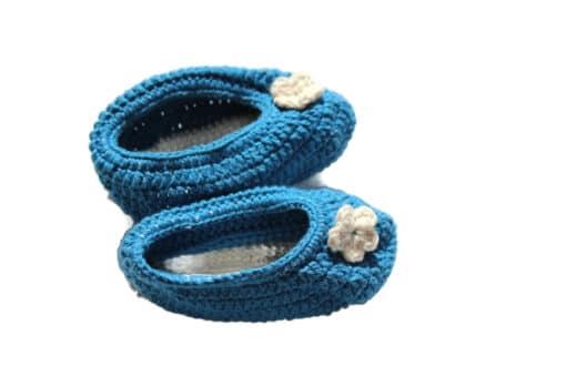 Babyschuhe Blau
