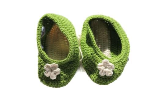 Babyschuhe Grün