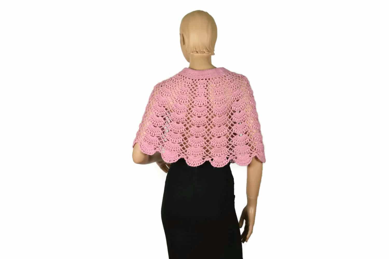 Alpaka Poncho Kleidchen rosa