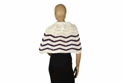 Alpaka Poncho Kleidchen weiß