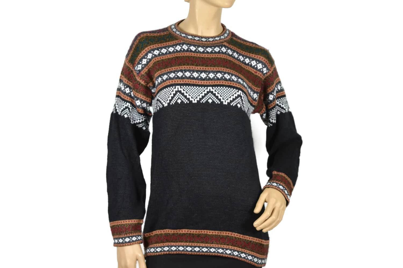 Alpaka Pullover Atahualpa schwarz (M)