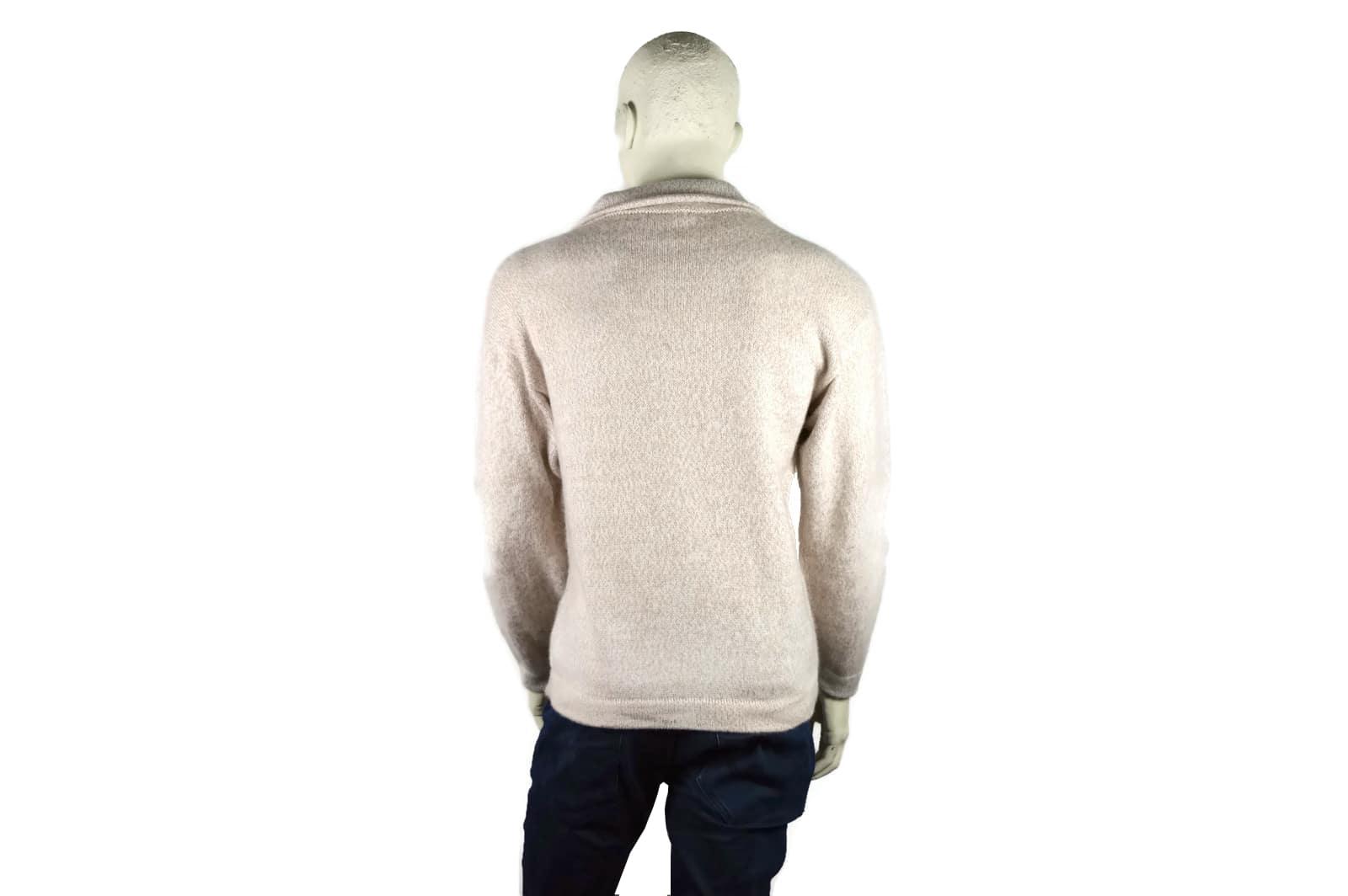 Alpaka Pullover Doble beige-weiß (L)