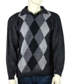 Alpaka Pullover Doble schwarz (L)