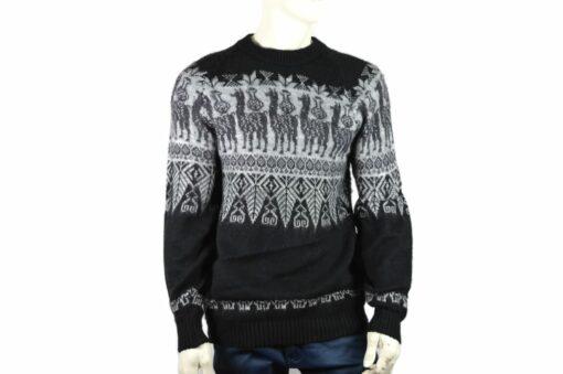 Alpaka Pullover Traditionell schwarz (L)