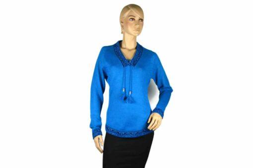 Alpaka Pullover Shakira blau (M)