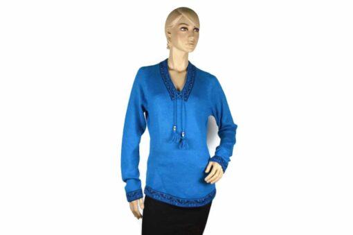 Alpaka Pullover Shakira blau (L)