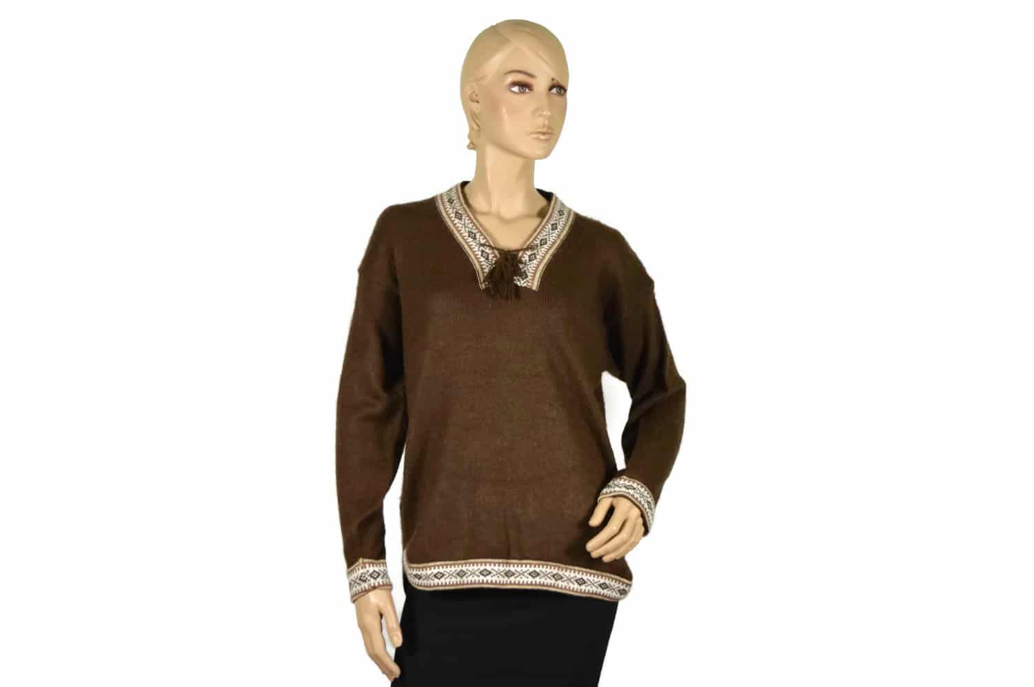 Shop for modern day women's alpaca pullover sweaters. Soft and cozy, warm yet breathable, our designer alpaca sweaters are a natural fashionable way to be in style.