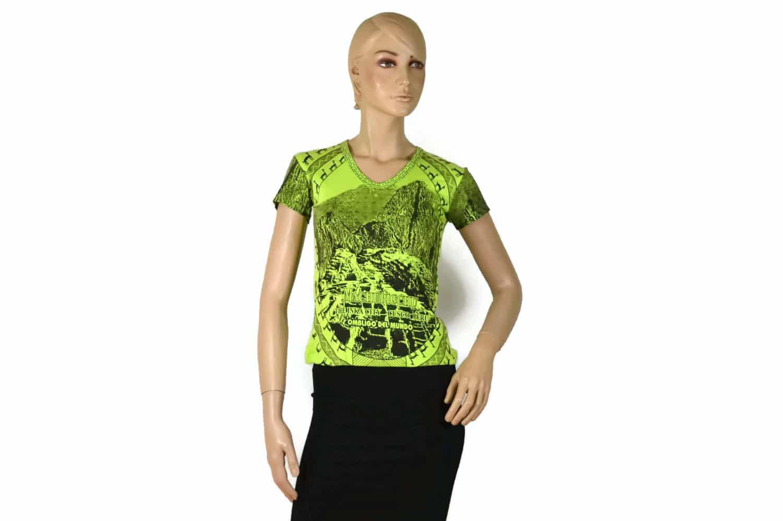 Damen Shirt Machu Picchu grün (S)