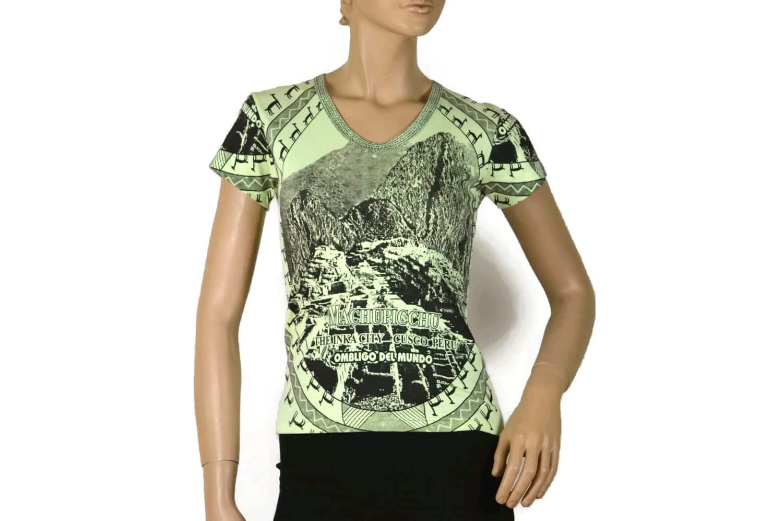 Damen Shirt Machu Picchu hellgrün (S)