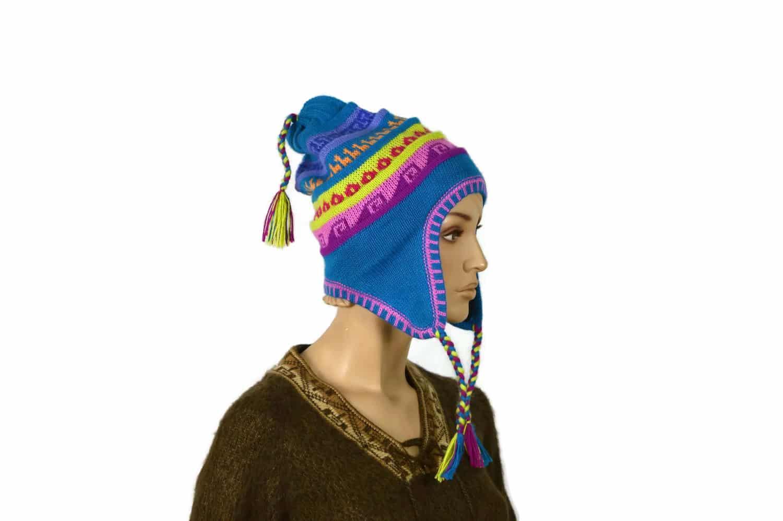 Chullo Inka hellblau