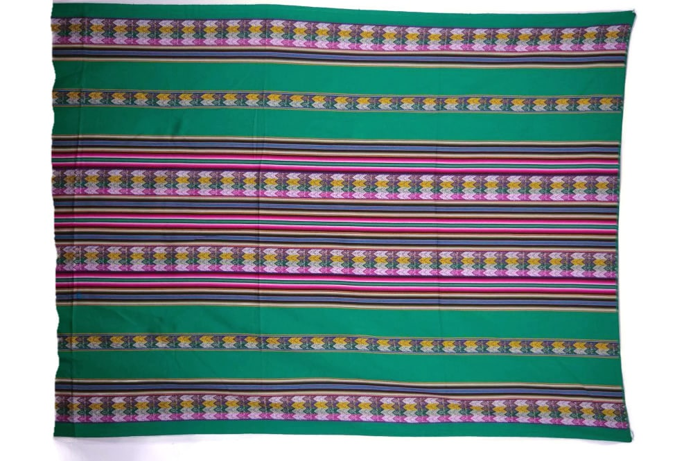 Aguayo Manta Decke grün