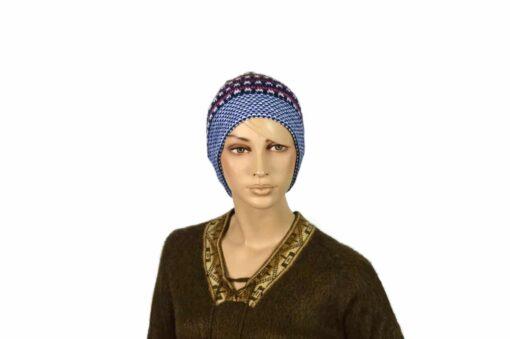 Mütze Pünktchen, blau