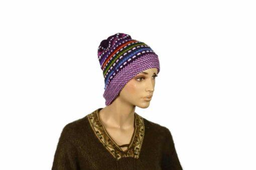 Mütze Pünktchen, violett