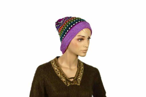 Regenbogenmütze, violett