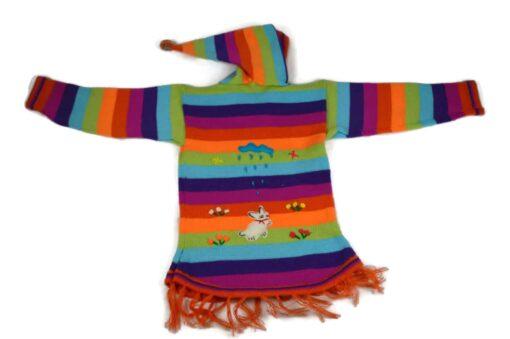 Kinderponcho Regenbogen, 116-122