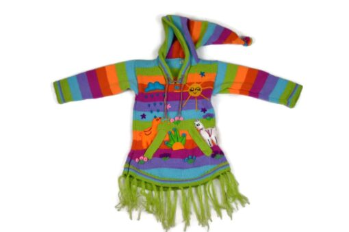 Kinderponcho Regenbogen, 86