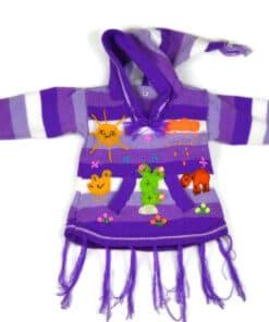 Kinderponcho Violette Welt, 80
