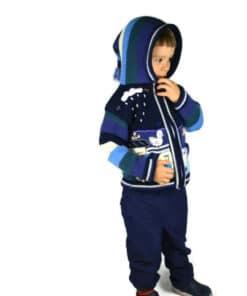 Kinderstrickjacke Blaue Eiswelt