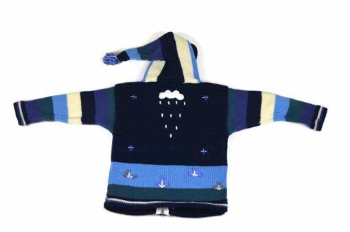 Kinderstrickjacke Blaue Eiswelt Variante 4 (Gr 98-104)