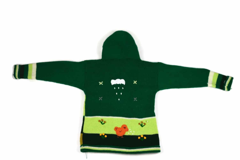^Kinderstrickjacke Grüne Wiese Variante 1 (Gr 110-116)