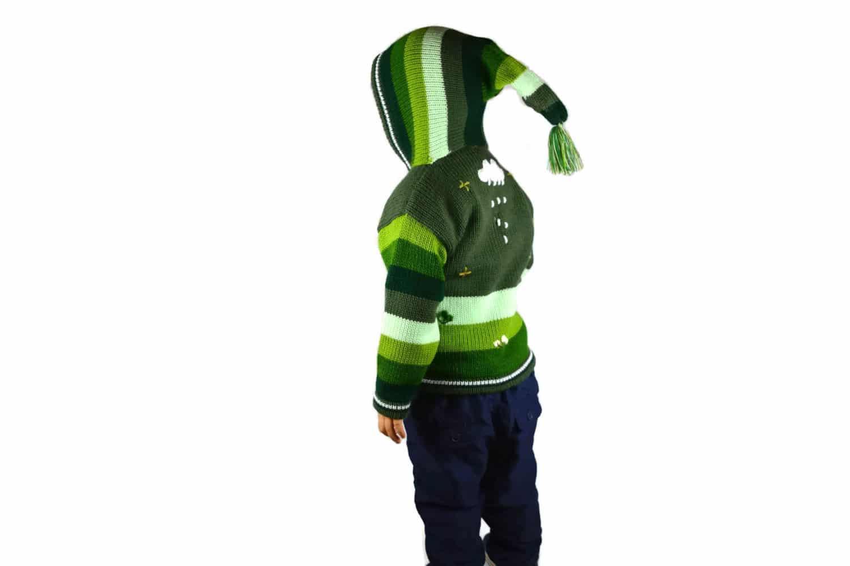 Kinderstrickjacke Grüne Wiese