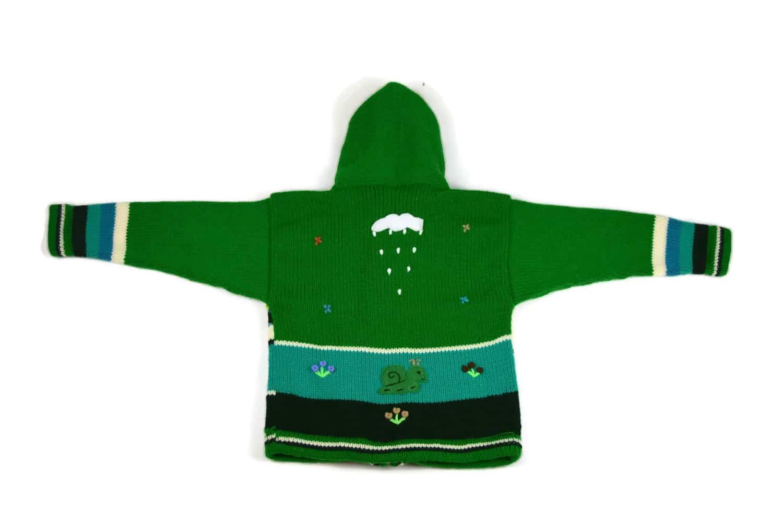Kinderstrickjacke Grüne Wiese Variante 3 (Gr 98-104)