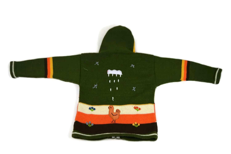 Kinderstrickjacke Grüne Wiese Variante 3 (Gr 110-116)