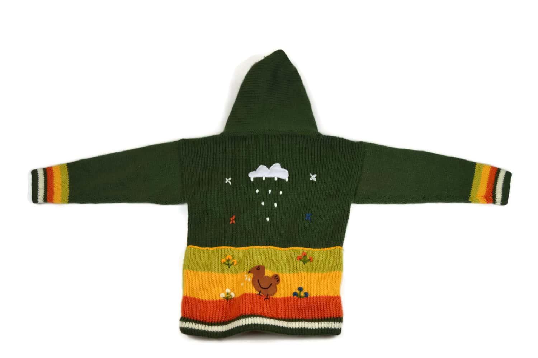 Kinderstrickjacke Grüne Wiese Variante 5 (Gr 98-104)