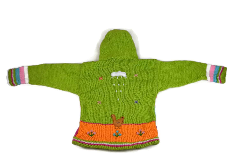 Kinderstrickjacke Grüne Wiese Variante 6 (Gr 98-104)