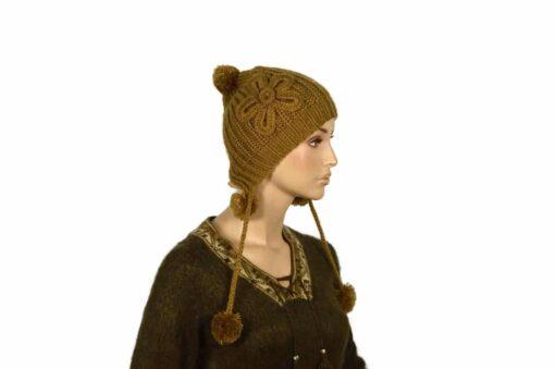 Alpaka Mütze Pupu Braun