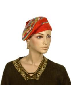 Alpaka Mütze Untertasse, orange